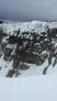 Large cornices on N ridge